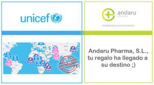Andaru Pharma regala suministros a los niños más necesitados con la iniciativa 'Regalo Azul' de Unicef
